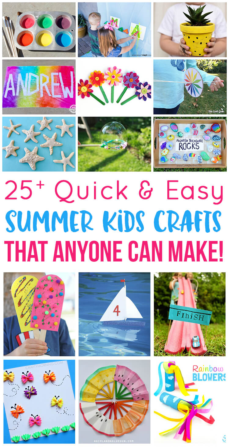 Easy Summer Kids Crafts That Anyone Can Make! - Happiness ...