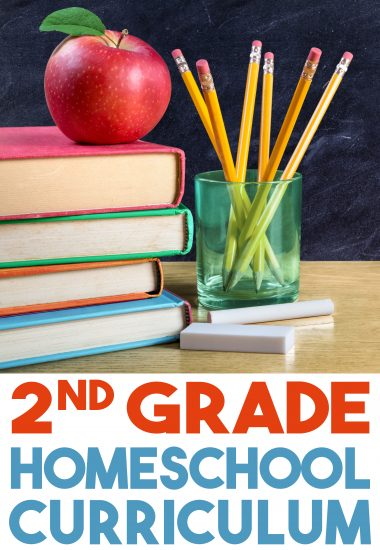 Looking for second-grade homeschool curriculum? Take a peek at the homeschool curriculum we'll be using this year in our 2nd-grade homeschool classroom!