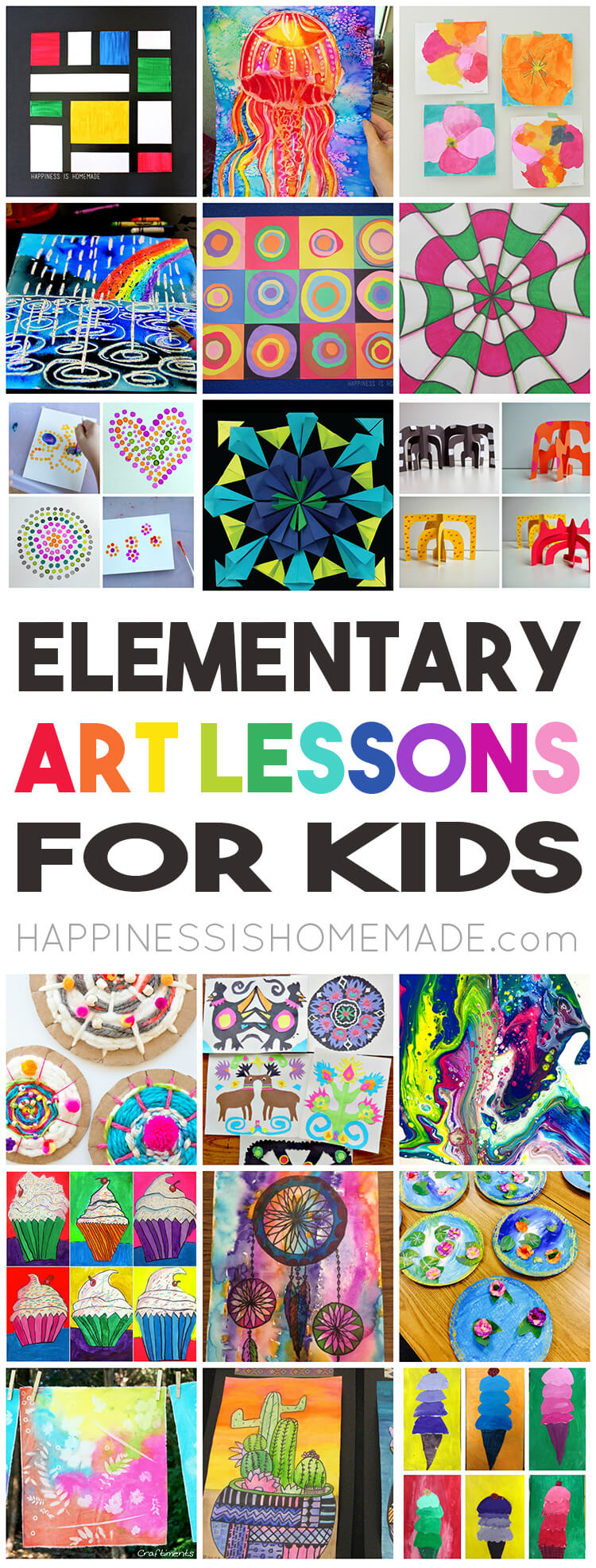 36 Elementary Art Lessons For Kids Happiness Is Homemade