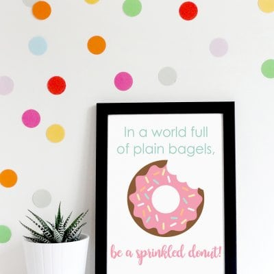 """Donut Worry, Be Happy"" Printable Quote + More!"