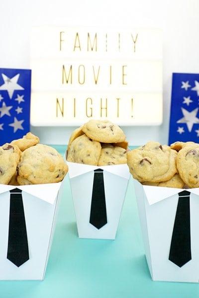 Boss Baby Movie Night Popcorn and Cookies