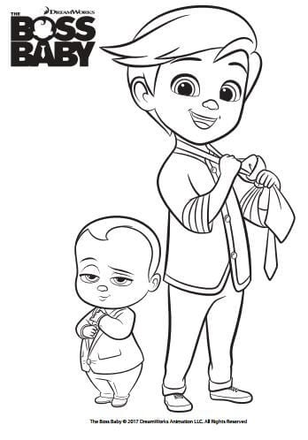 Jimbo Coloring Page - Free The Boss Baby Coloring Pages ... | 498x348