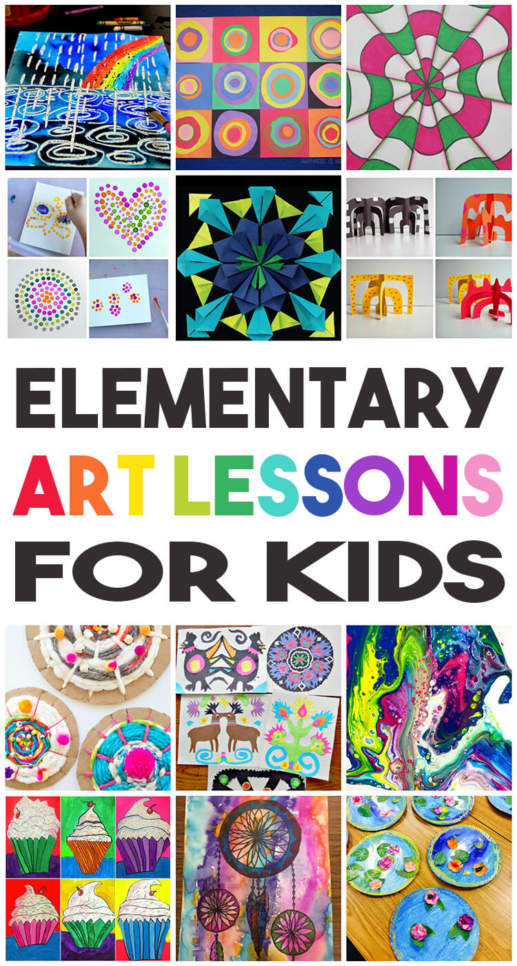 36 elementary art lessons for kids happiness is homemade for Art and craft books for kids
