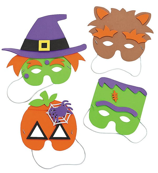 photograph about Halloween Craft Printable titled Easy Basic Halloween Crafts for Children - Contentment is Handmade