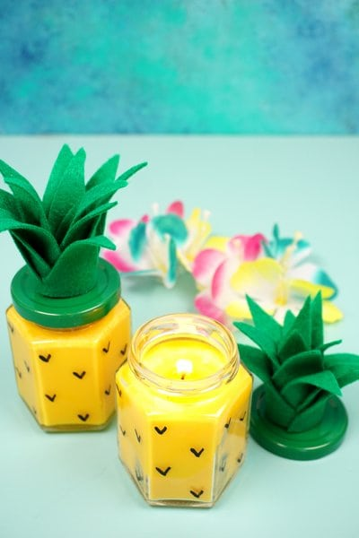 Pineapple Candle DIY Craft Project