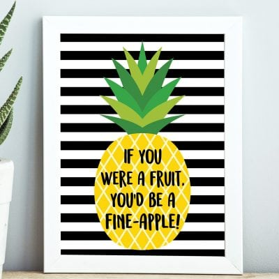 """Fine-Apple"" Pineapple Printables + Gift Tags"