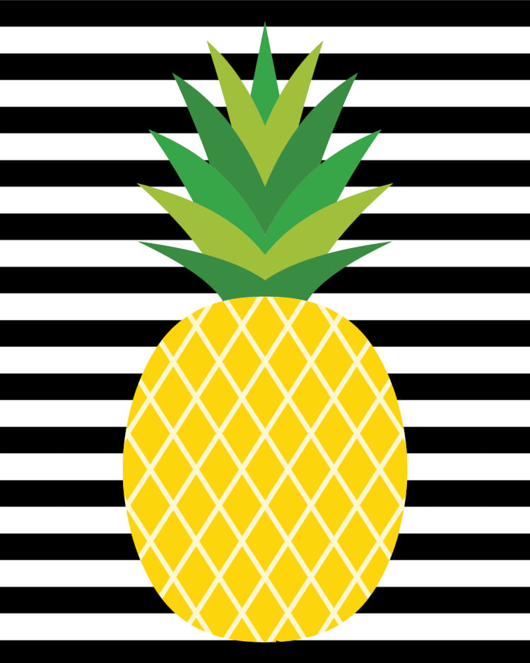 image about Printable Pineapple identified as Great-Apple\