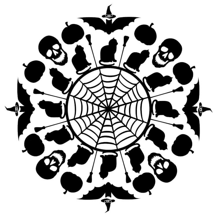Superior They Wanted Something A Little More Grown Up And Less Cartoonish Than Their  Old Bags, So I Designed A Spooky Halloween Mandala SVG File That I Could  Cut ...