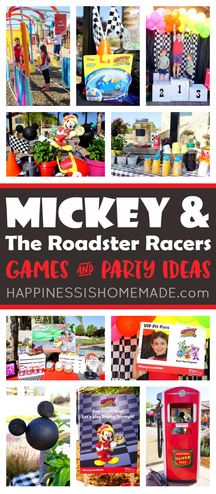 Mickey And The Roadster Racers Games Party Ideas Happiness Is Homemade