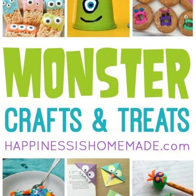 20 Easy Monster Treats and Crafts for Kids