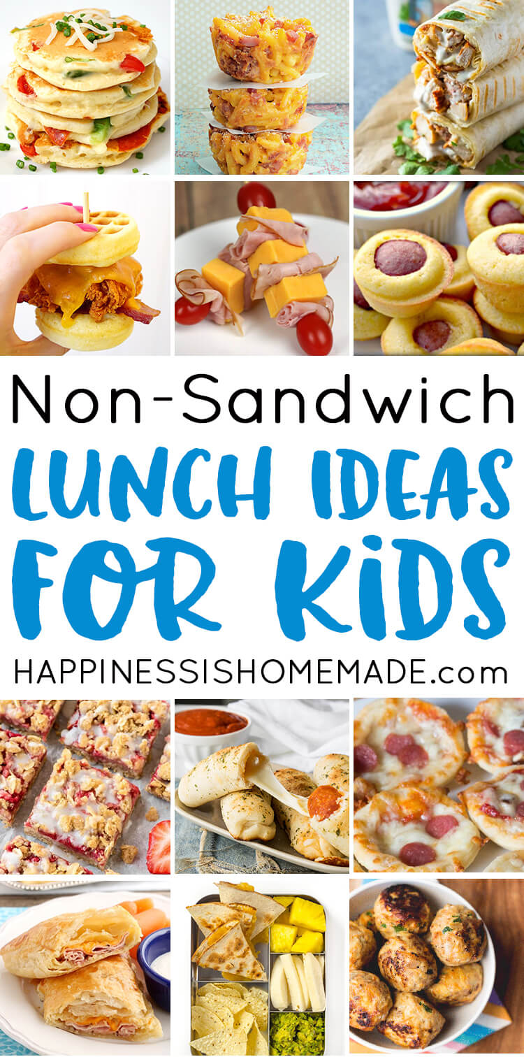 Looking for tasty sandwich alternatives to pack in your child's lunchbox? These creative school lunch ideas for kids are just the ticket! Mac and cheese muffins, pizza pancakes, chicken ranch roll-ups, and LOTS more!