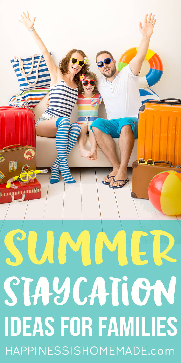 No time for a family vacation? Check out these 40+ fun summer staycation ideas for families instead! Discover new adventures and activities in your own town!