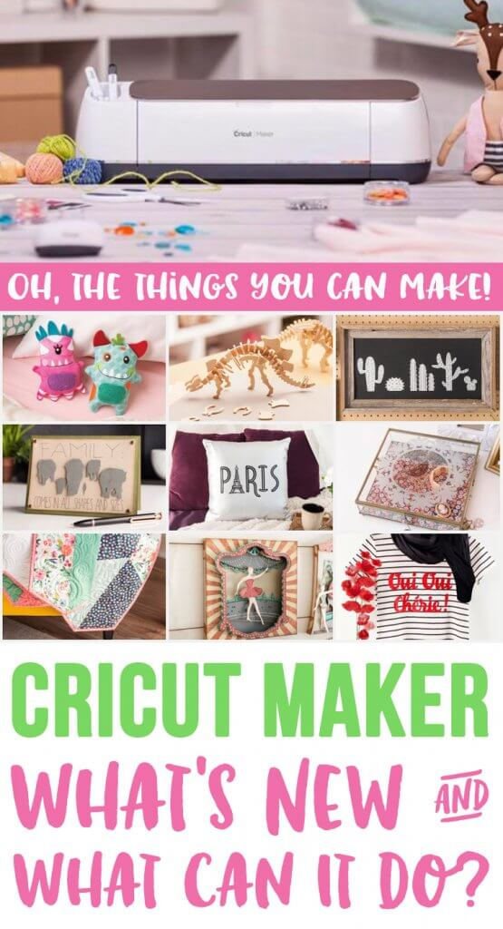 The Cricut Maker is perfect for all of your crafting needs! Quickly & precisely cut everything from thin tissue paper and fabric to leather and balsa wood!