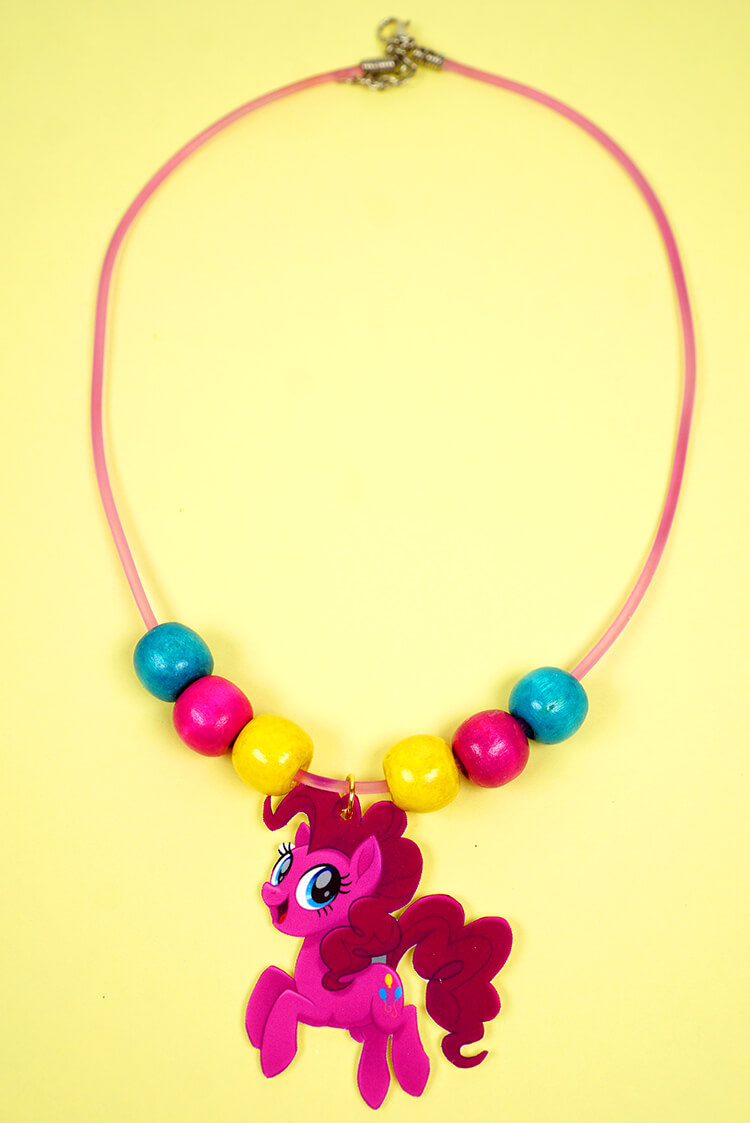 My little pony shrink plastic jewelry happiness is homemade use the jewelry pliers to attach a jump ring to the my little pony the movie character pendant aloadofball Gallery