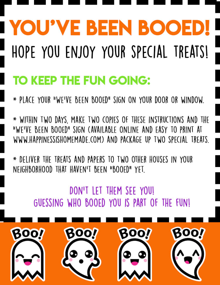 photo about Halloween Signs Printable identify Youve Been Booed! Cost-free Halloween Printables - Pleasure is