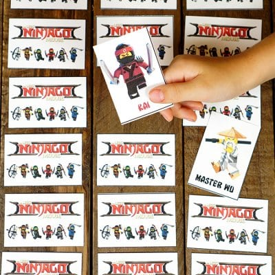 Printable LEGO NINJAGO Movie Games – Memory & Shadow Match