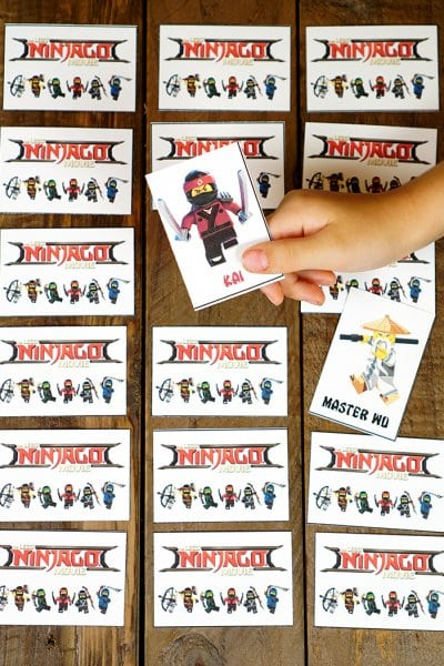 LEGO NINJAGO Movie Memory Match Game