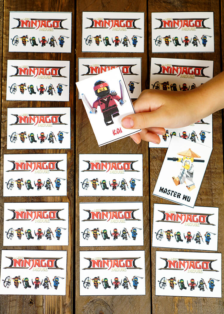 image relating to Free Printable Escape Room Kit Pdf named Printable LEGO NINJAGO Online games - Memory Shadow Video game