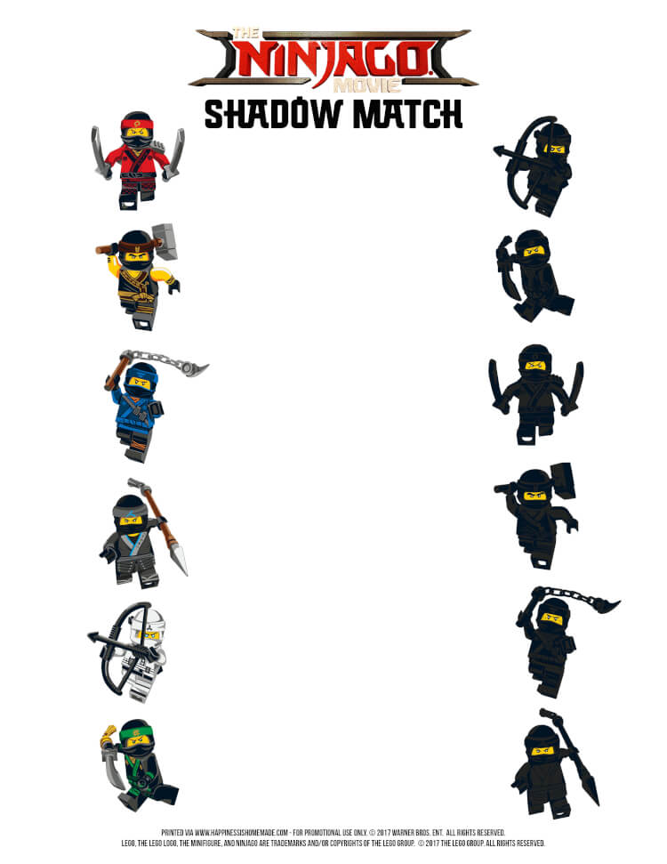 download print the lego ninjago movie shadow match game