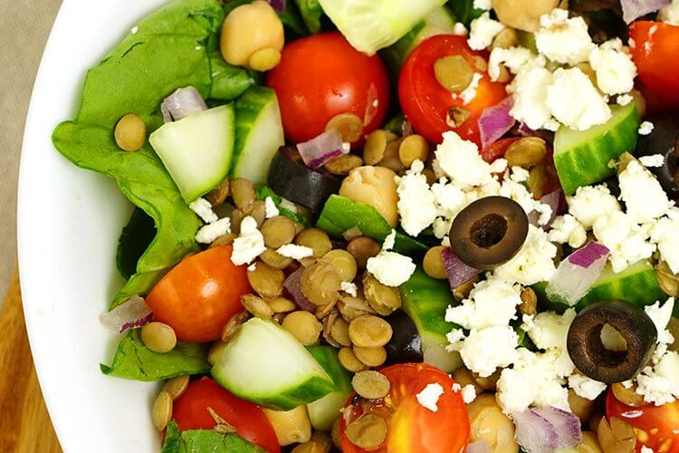 A Healthy Protein-Packed Dinner for Busy Families – Mediterranean Lentil Salad