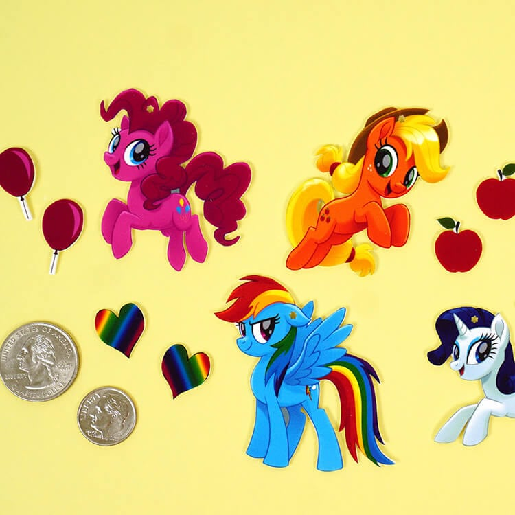 My Little Pony Shrink Plastic Jewelry  Happiness is Homemade