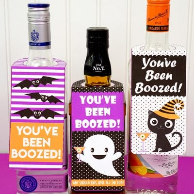 """You've Been Boozed"" Halloween Printables"
