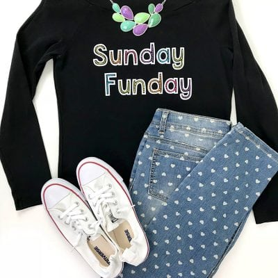 "DIY ""Sunday Funday"" Shirt + Free SVG File"