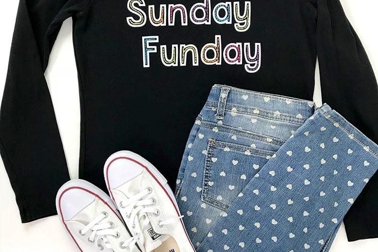 "DIY ""Sunday Funday"" Shirt + Free SVG File"