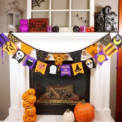 Easy DIY Felt Halloween Banner