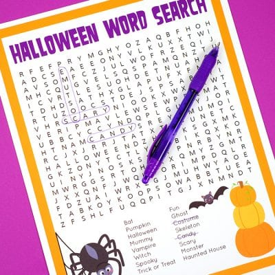 Halloween Word Search Printable