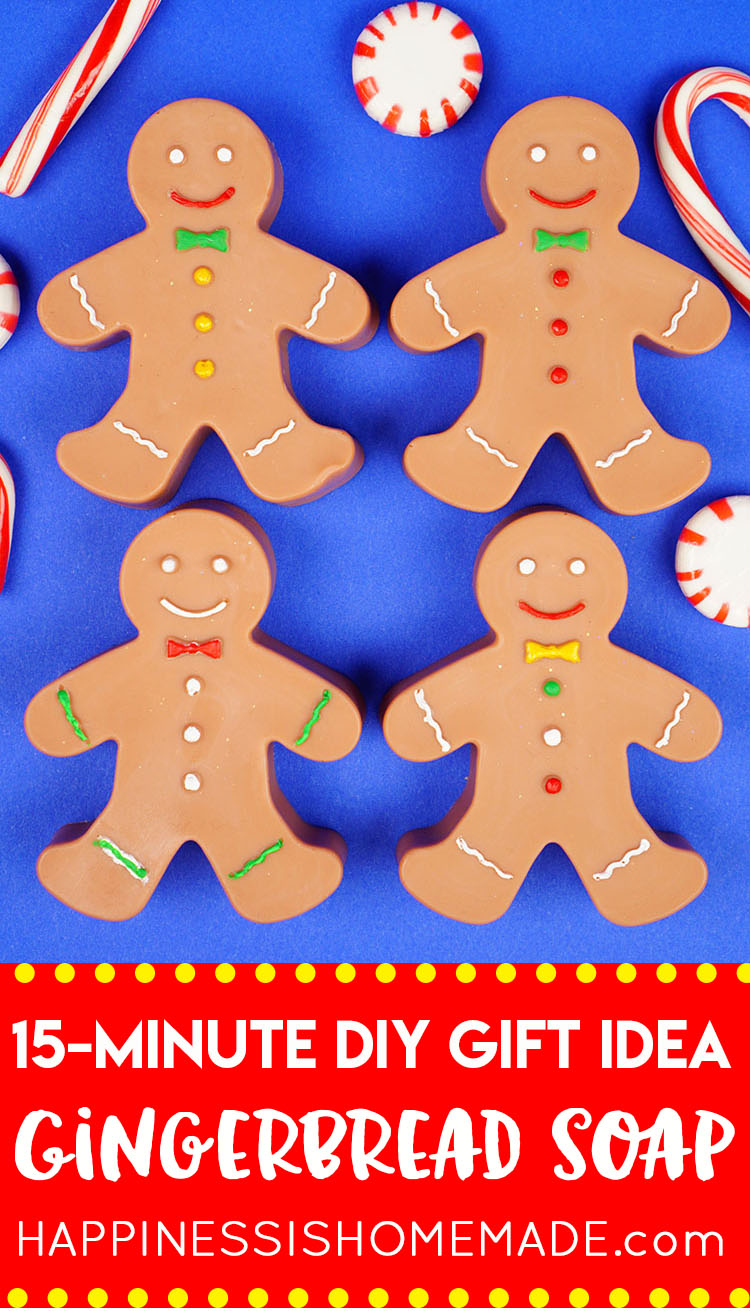 15 minute diy gingerbread man soaps happiness is homemade