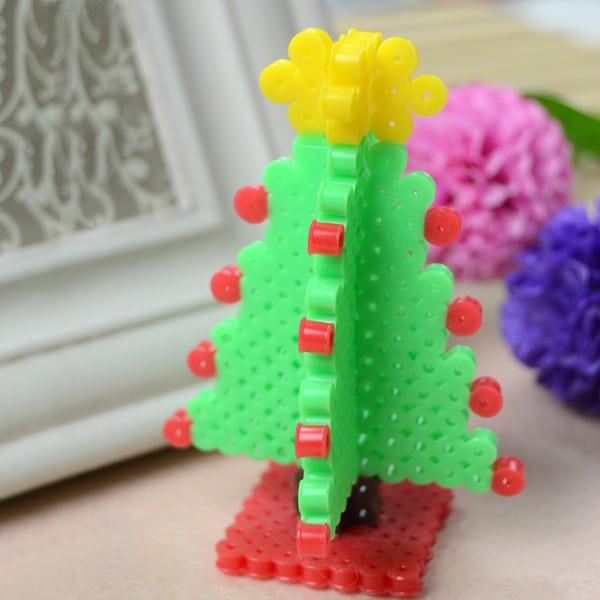 3 d christmas tree from panda hall learning center - Perler Beads Christmas