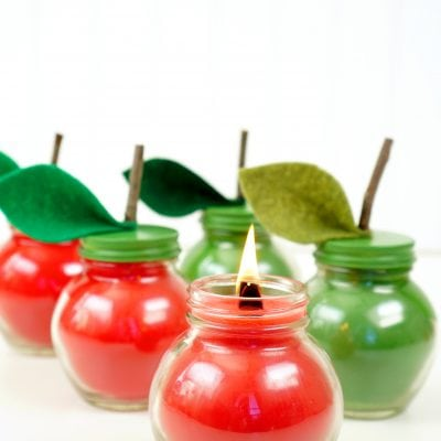 DIY Apple Spice Candles