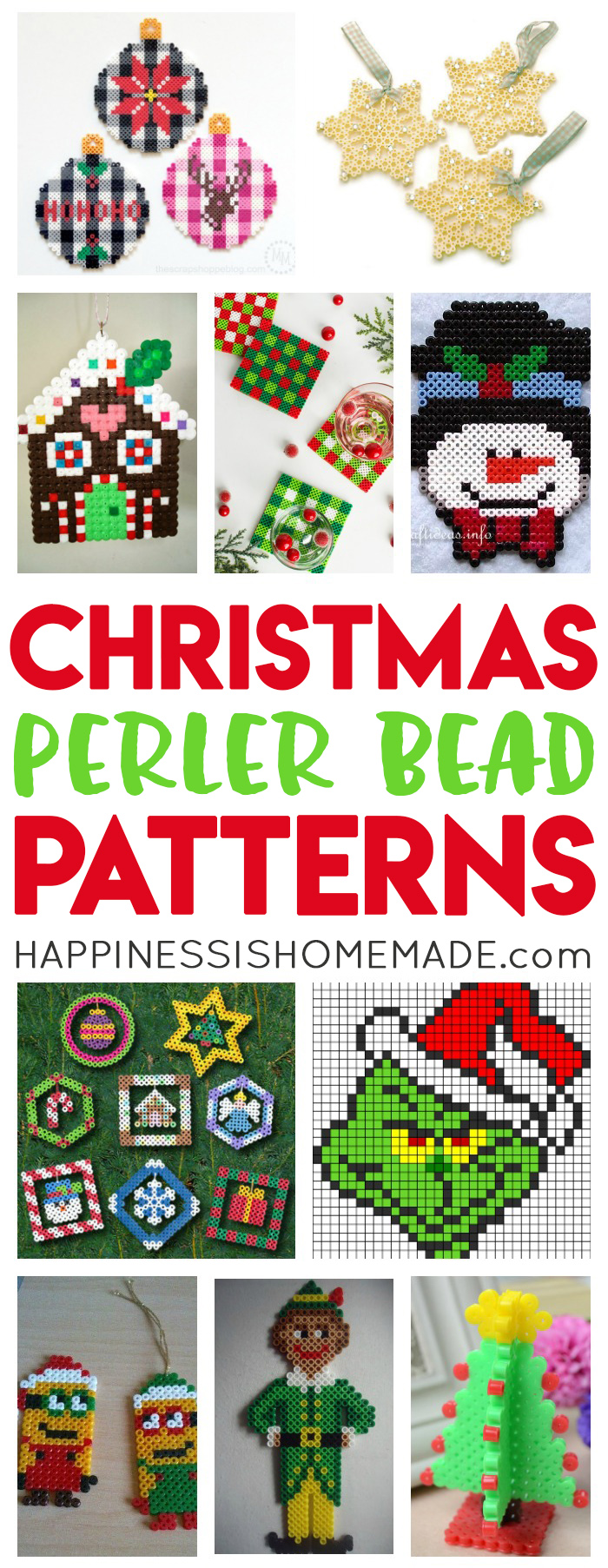 Christmas Perler Bead Patterns Amp Ideas Happiness Is Homemade