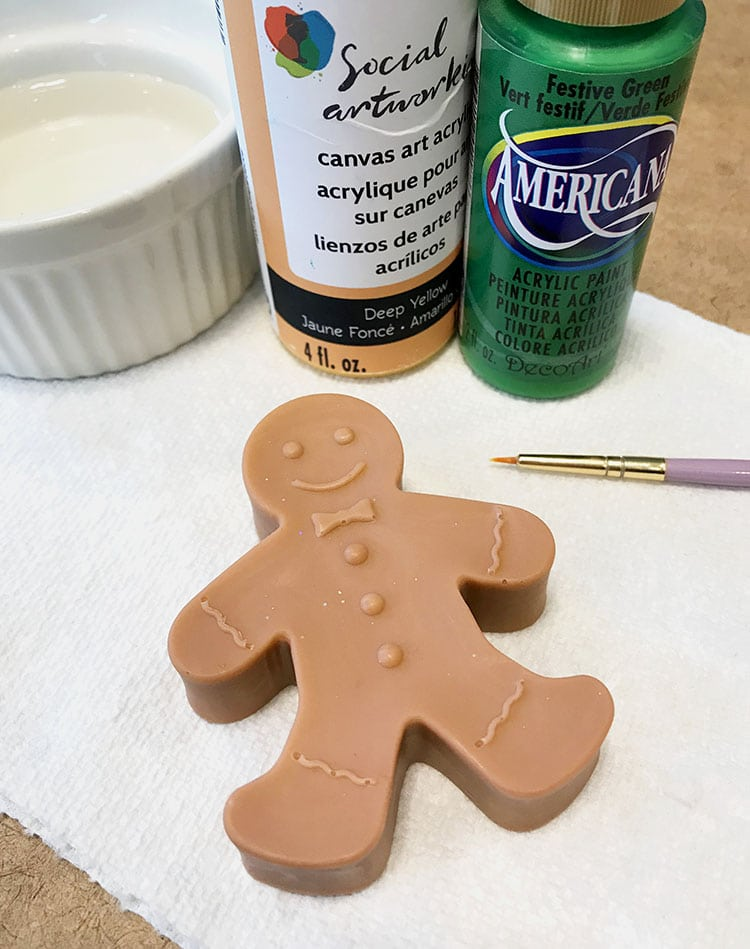 When The Soaps Are Cool And Firm Carefully Unmold Use Acrylic Craft Paint To Add Color Detail If Desired This Small Amount Of Painted Is