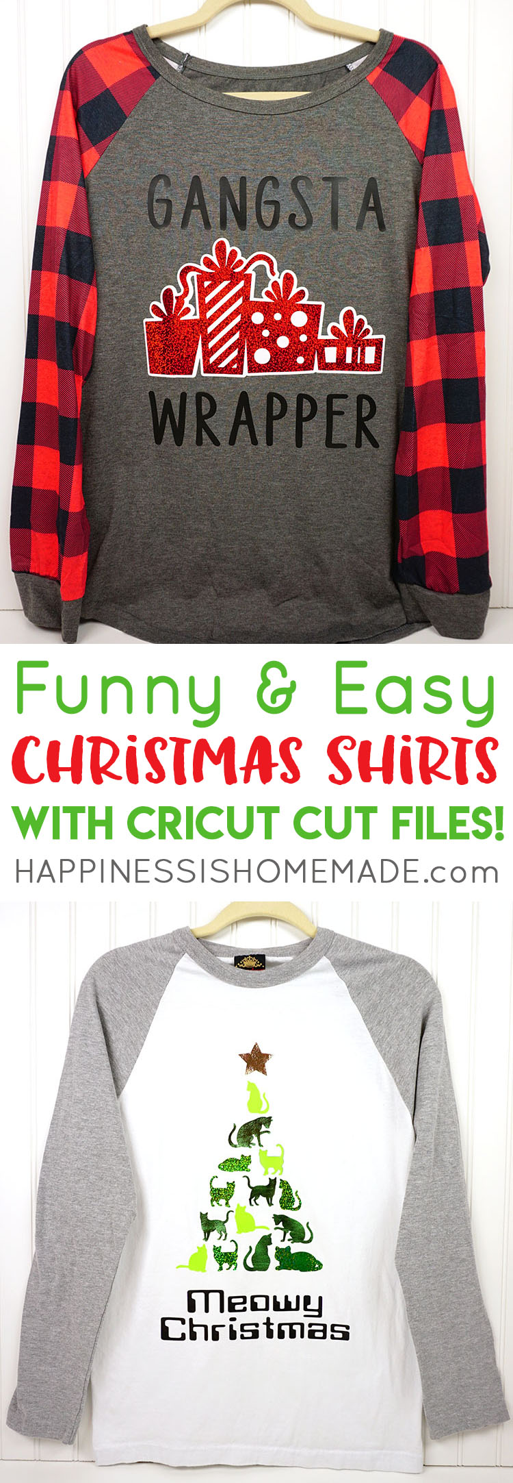 422e2c2e Funny Christmas Shirts with Cricut + Cut Files! - Happiness is Homemade