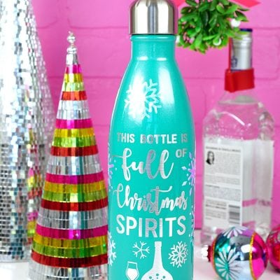 Free SVG File: Christmas Spirits Bottle