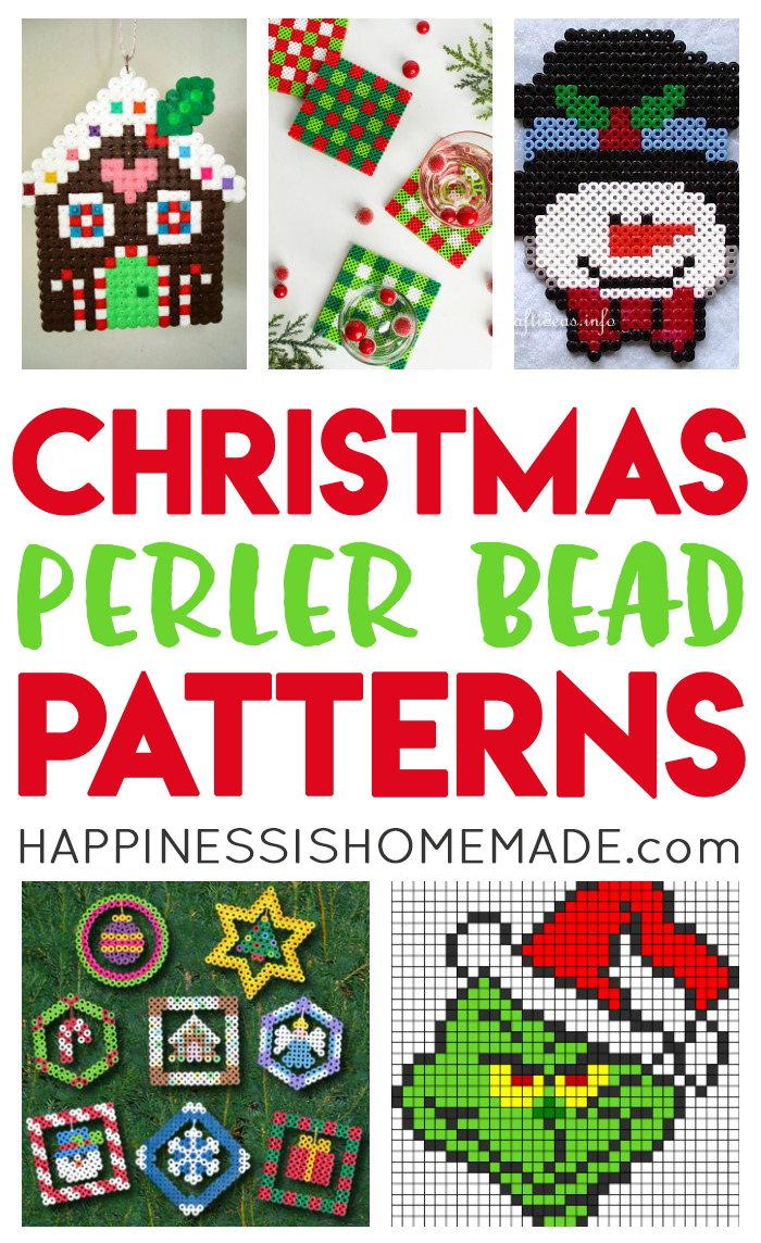 Christmas Perler Bead Patterns Ideas Happiness Is Homemade