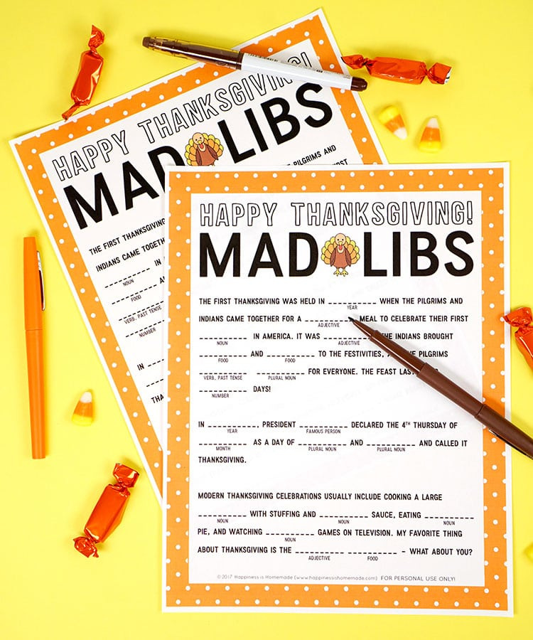 picture about Thanksgiving Mad Libs Printable identify Thanksgiving Ridiculous Libs Printable Recreation - Joy is Home made