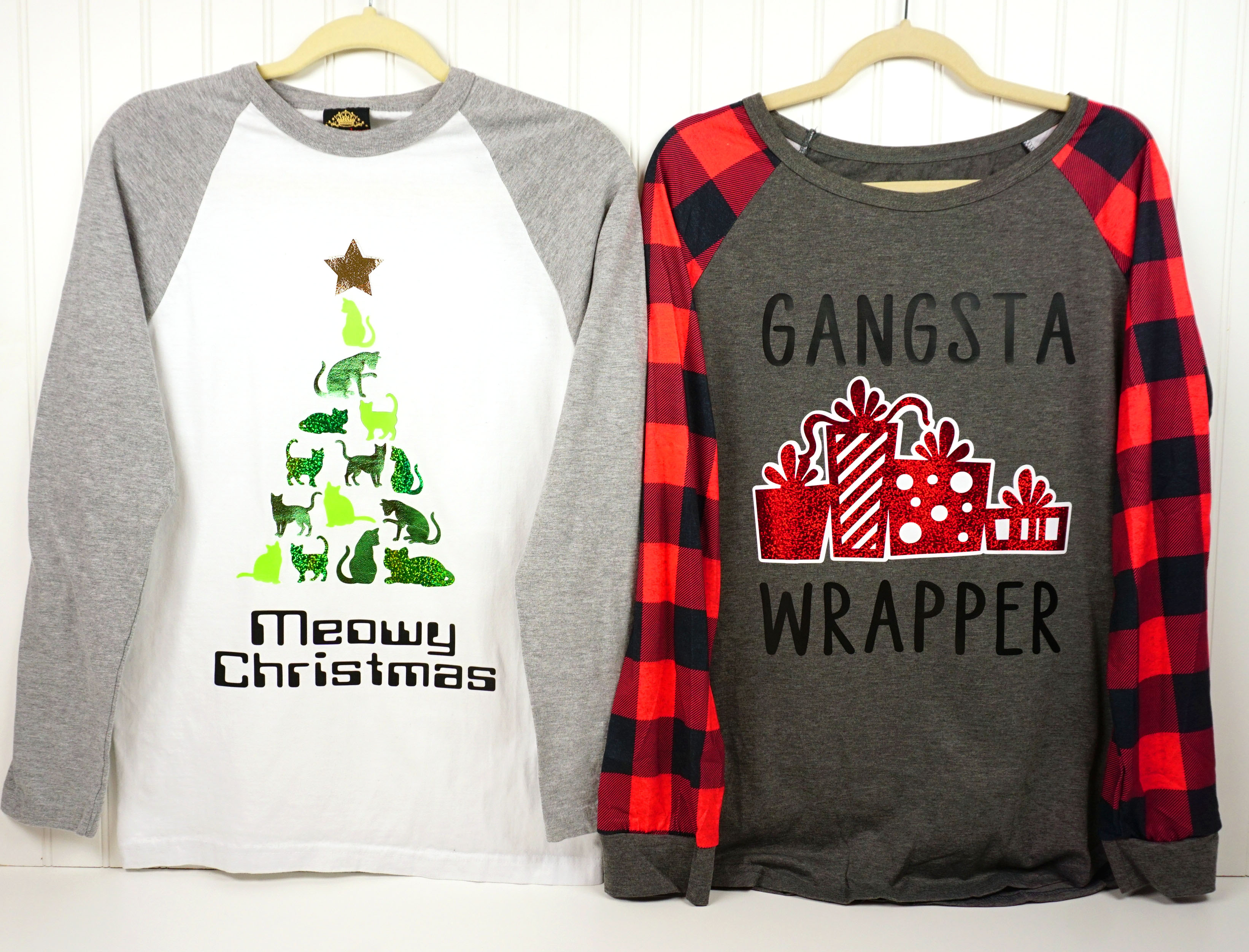 Funny Christmas Shirts with Cricut + Cut Files! - Happiness is Homemade
