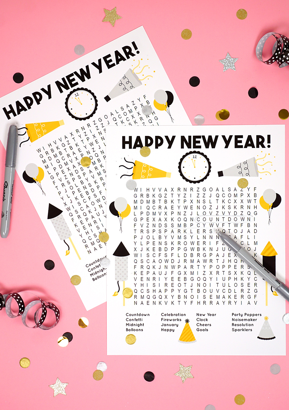 New Year's Word Search Printable
