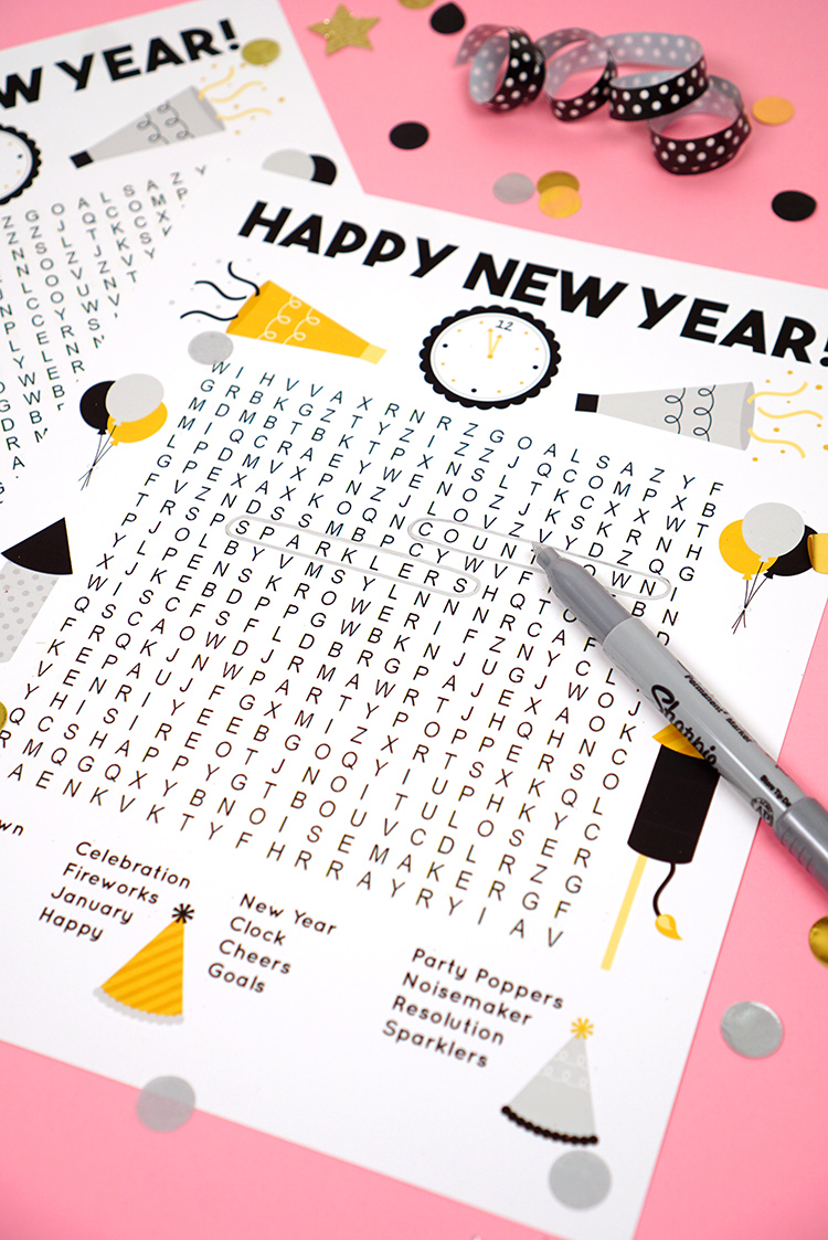 This fun New Year's Word Search printable puzzle is a ton of fun for families and kids of all ages! Perfect for teachers and students in the school classroom!