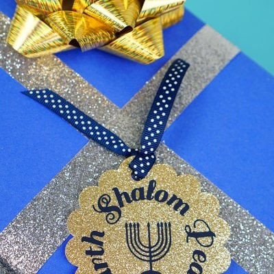 Hanukkah Gift Tags with Cricut
