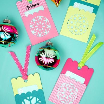 Snowflake Gift Card Holder Tags + Christmas SVG File