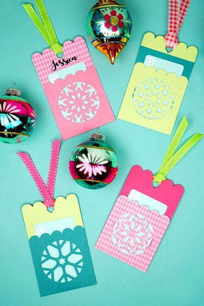 Snowflake Gift Card Holder Tags + SVG File