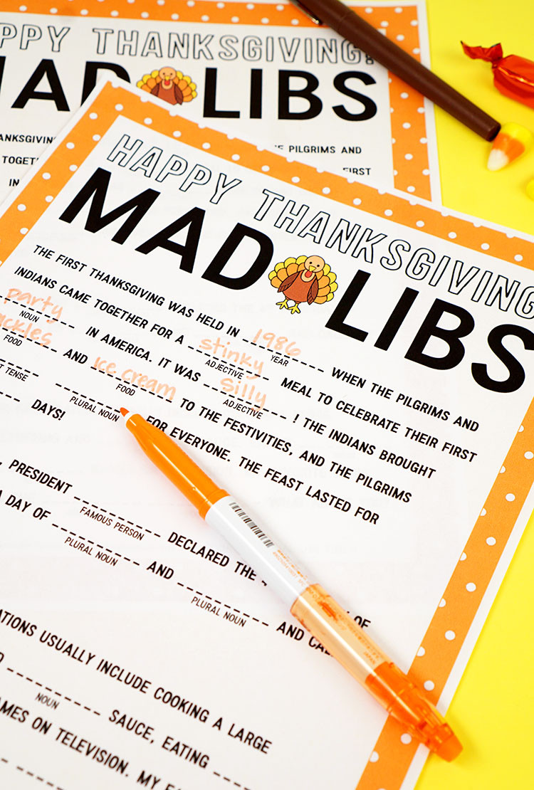 graphic regarding Thanksgiving Mad Libs Printable referred to as Thanksgiving Ridiculous Libs Printable Activity - Joy is Home made
