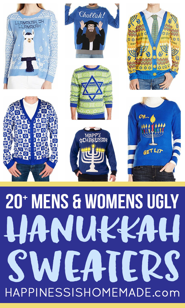 Happy Thanksgiving 2017 Funny Pictures >> 20+ Ugly Hanukkah Sweaters - Happiness is Homemade