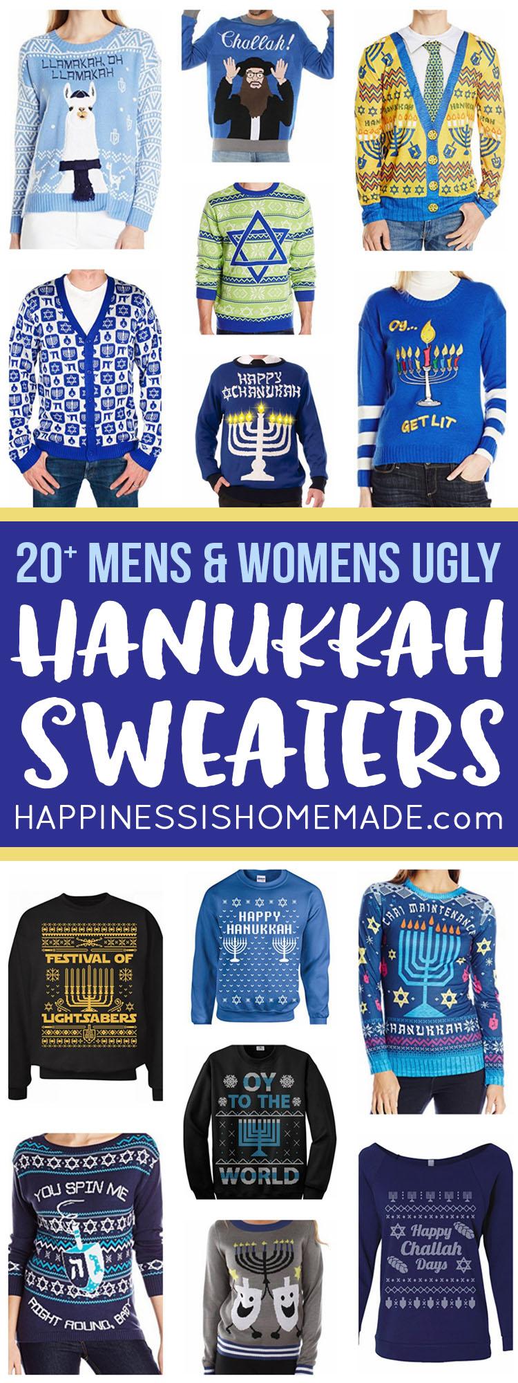 Happy Llamakah Ugly Sweater Youth Sweatshirt Hanukkah Holiday Gift
