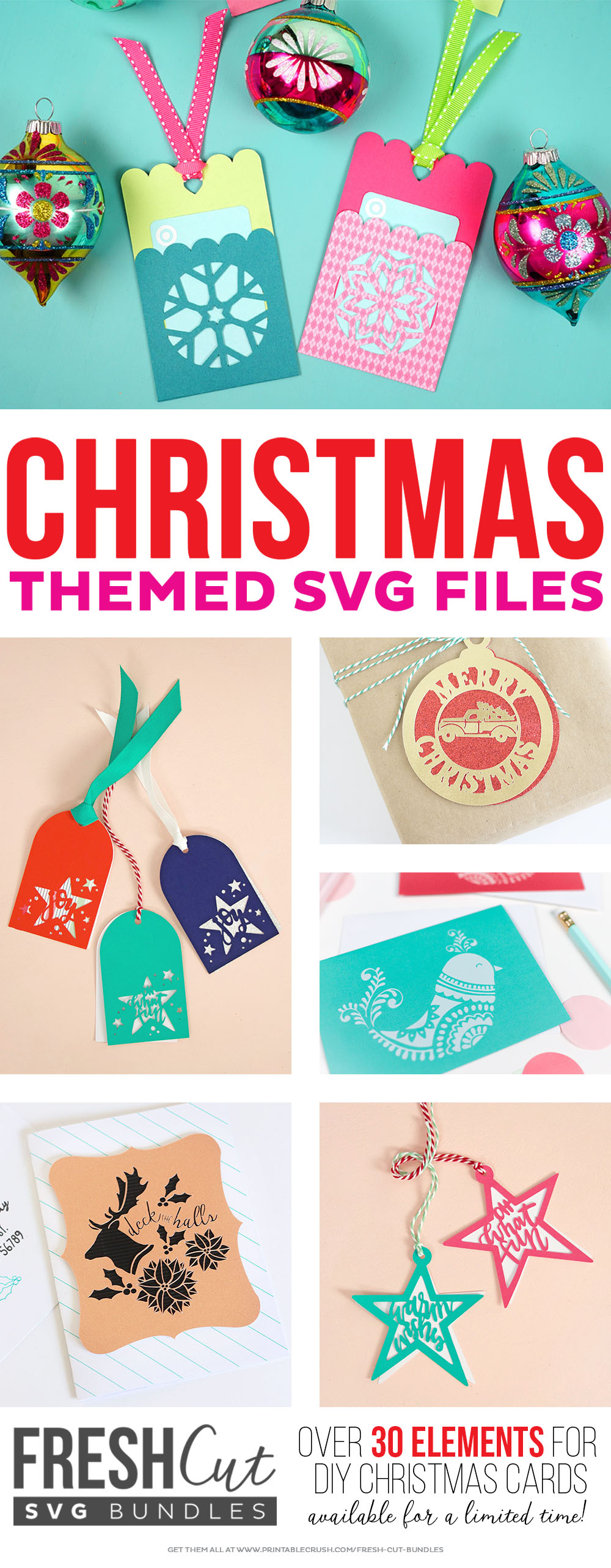 Snowflake Gift Card Holder Tags + Christmas SVG File - Happiness is ...