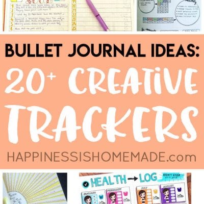 20+ Bullet Journal Ideas: Creative Tracker Charts